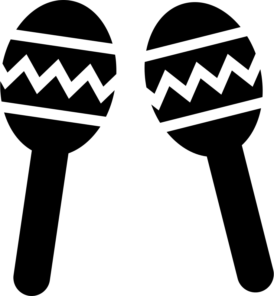 clip transparent stock Maracas Couple Of Musical Instrument Of Mexico Svg Png Icon Free