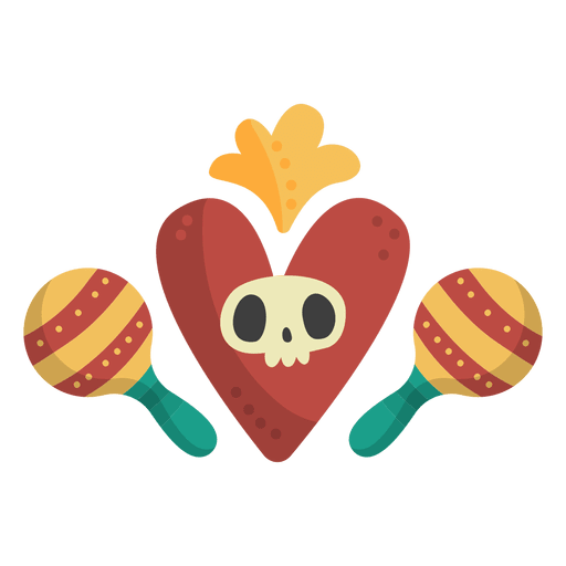 transparent download Day of the dead maracas logo