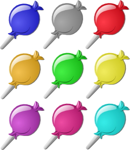 graphic free download Lollipops Clip Art at Clker