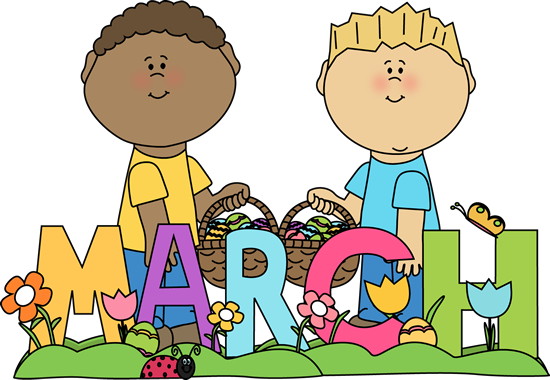 png royalty free Month of easter kids. March clipart.