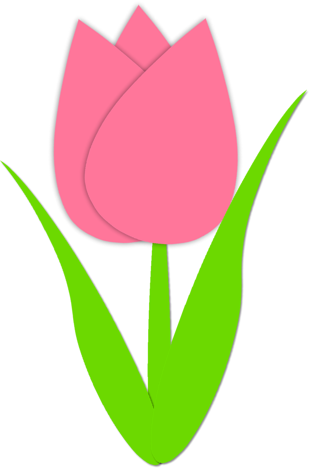 clipart royalty free library March clipart craft. Simple tulip outline spring.