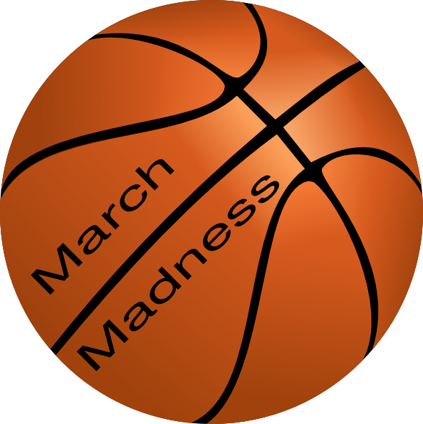 graphic black and white library Art at clker com. Basketball clip march madness