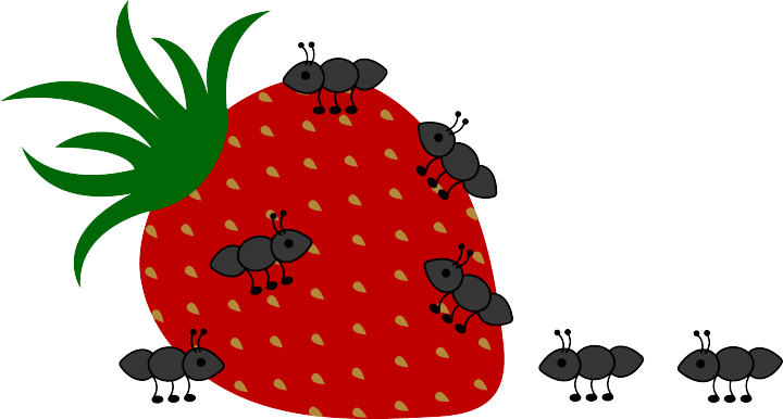 clip Cartoon pictures of at. Marching ants clipart