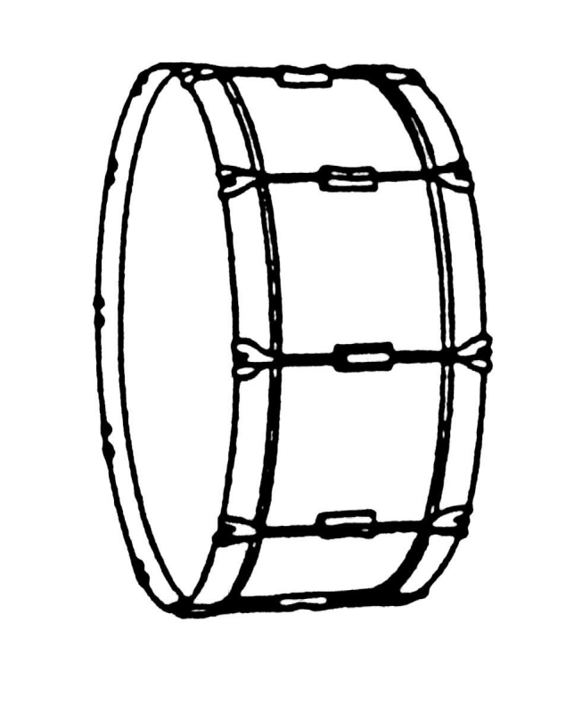 vector transparent snare drum clipart black and white #59405724