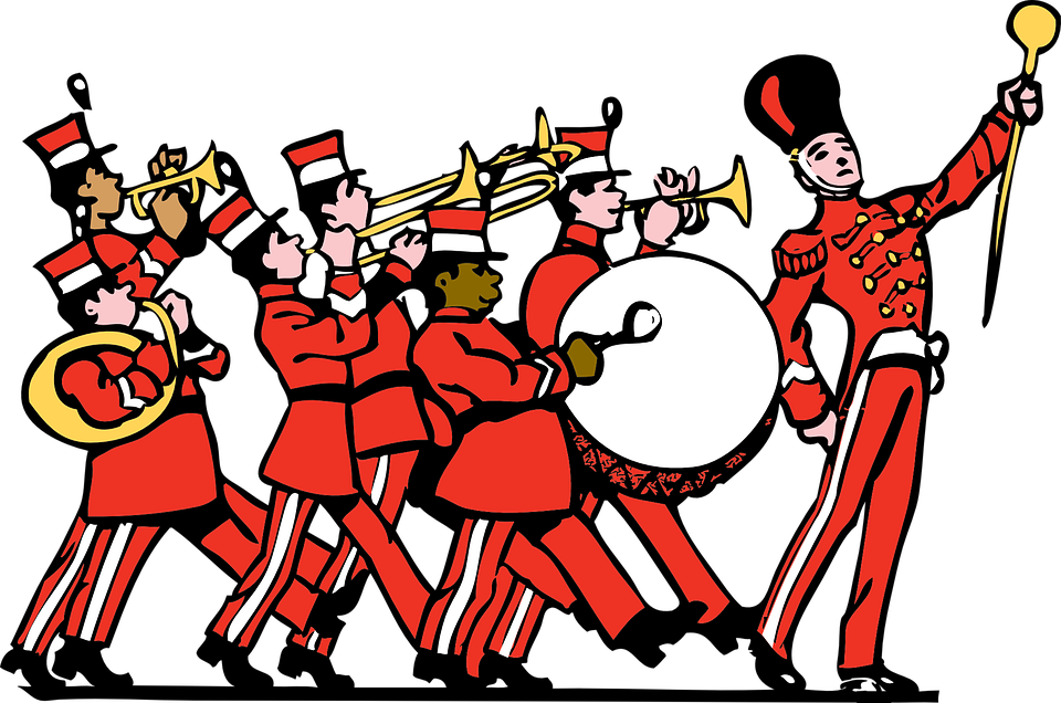 banner Vector bands person. Marching band survival guide