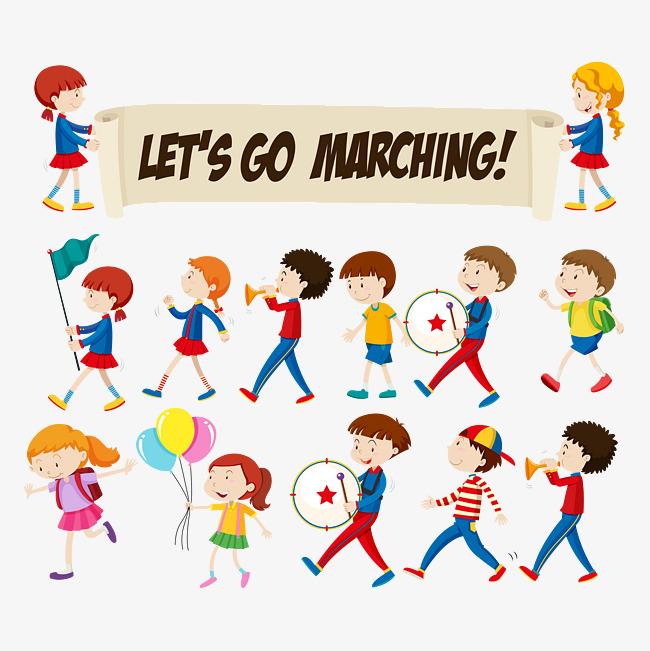 clipart transparent download Marching clipart sign. Children portal .