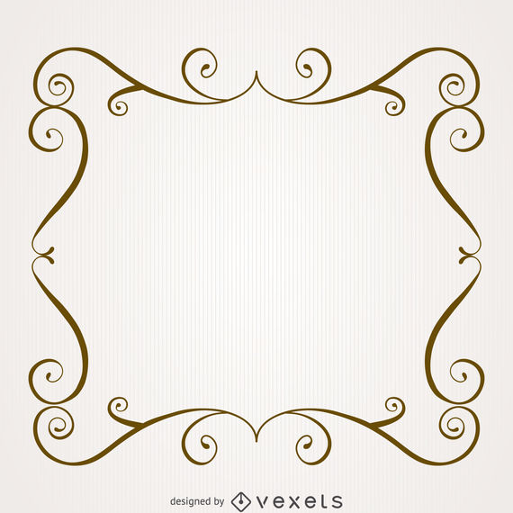 freeuse library Frame with swirls download. Marco vector vintage.