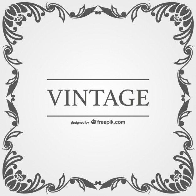 vector transparent download Marco vector vintage. Con descargar vectores gratis