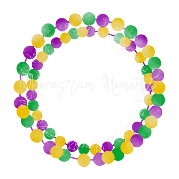 png black and white stock Mardi gras beads clipart. Watercolor png for digital