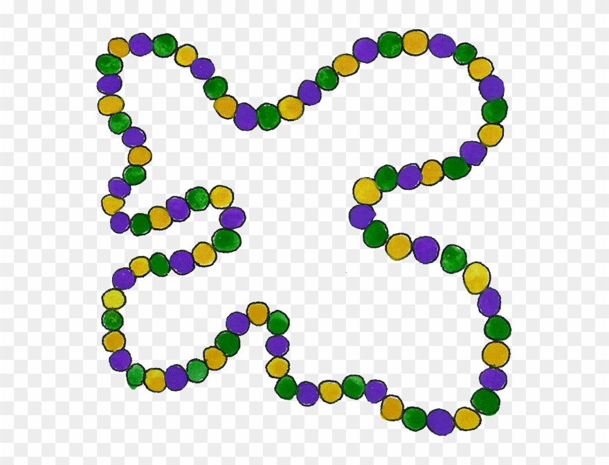 picture Mardi gras beads clipart. Bead png download
