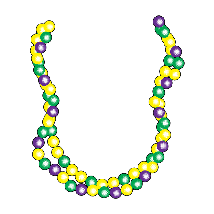 svg free download Mardi gras beads clipart coloring page.  collection of bead.