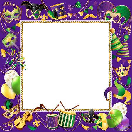 jpg royalty free Mardi gras clipart borders. Free download clip art