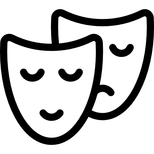 freeuse download Drama mask silhouette at. Carnival clipart black and white