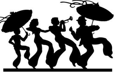 clip library stock Clip art black and. Mardi gras clipart jazz.