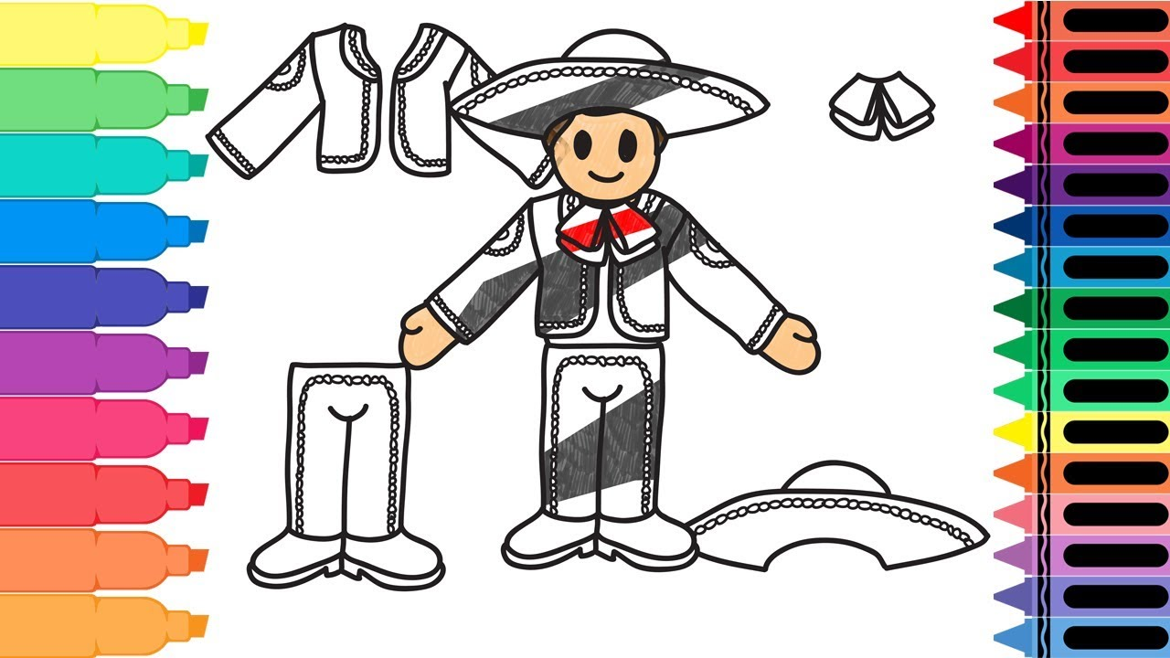 graphic download Mariachi drawing. How to draw mexico.