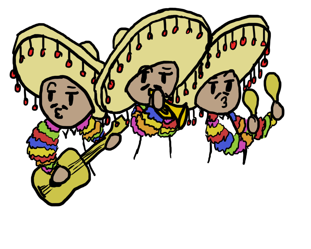 clip freeuse download Mariachi Band Drawing at GetDrawings