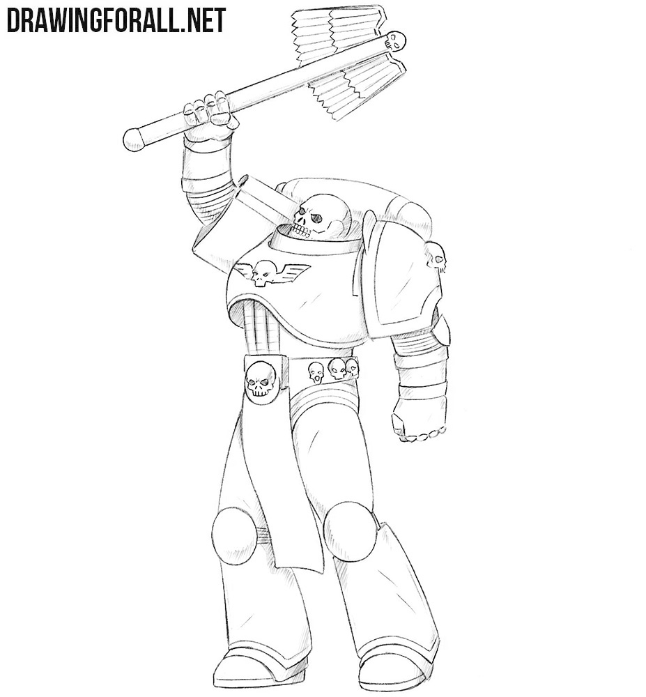 png library stock How to Draw a Space Marine Chaplain