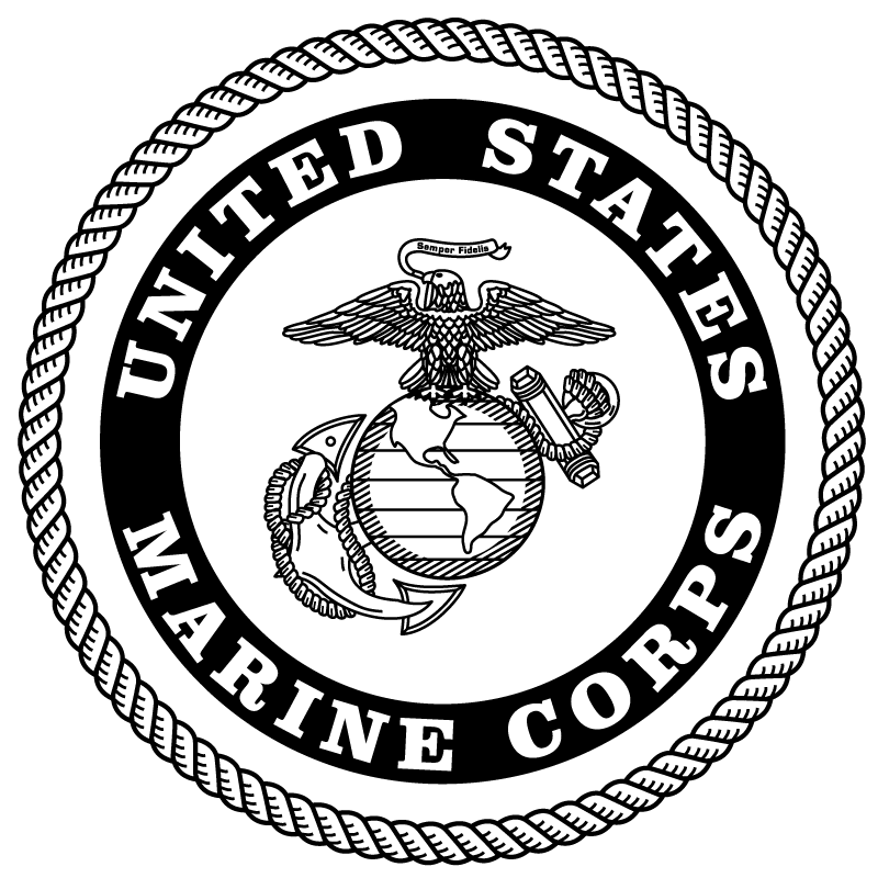 picture freeuse download Image result for black and white marine corp logo
