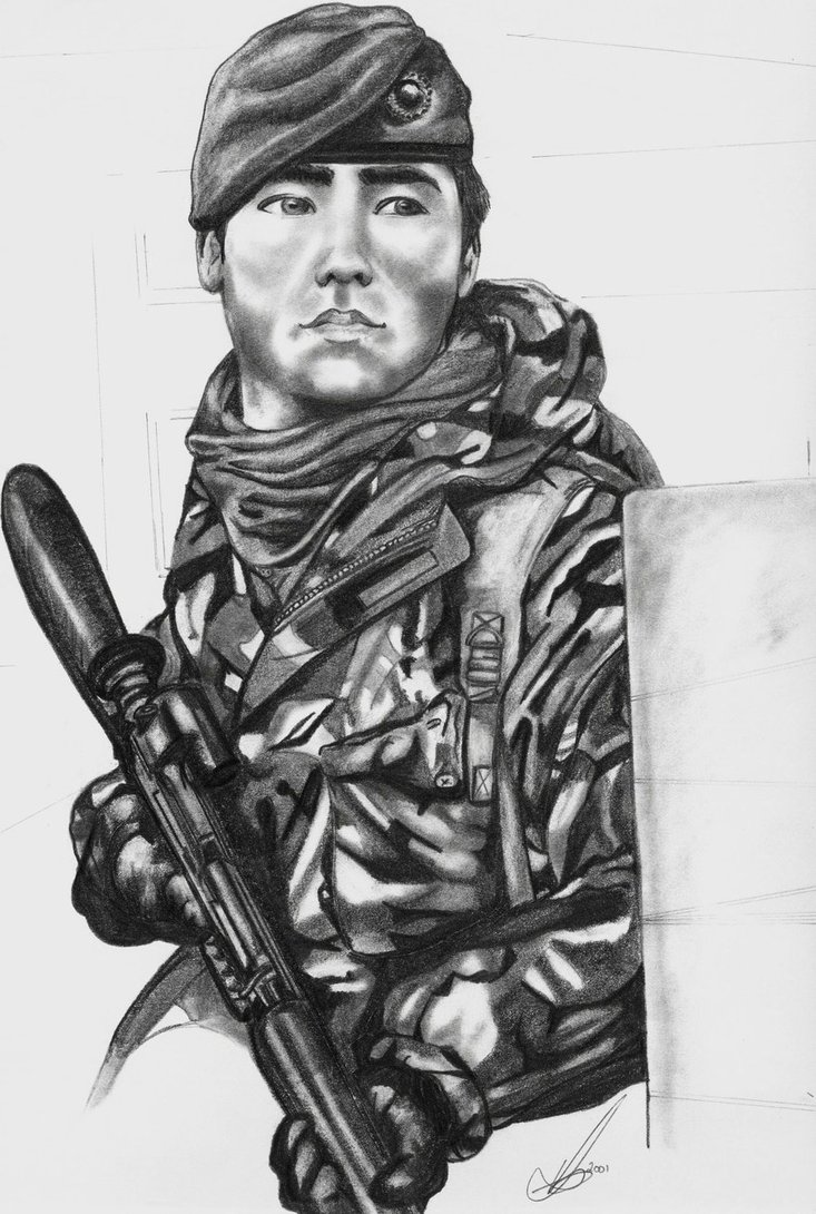 picture black and white download Soldier at paintingvalley com. Marine drawing royal