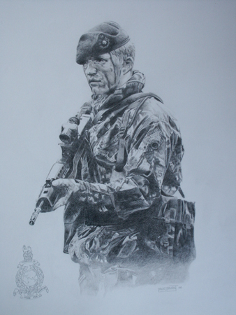 picture stock Marine drawing royal. Commando private collection david