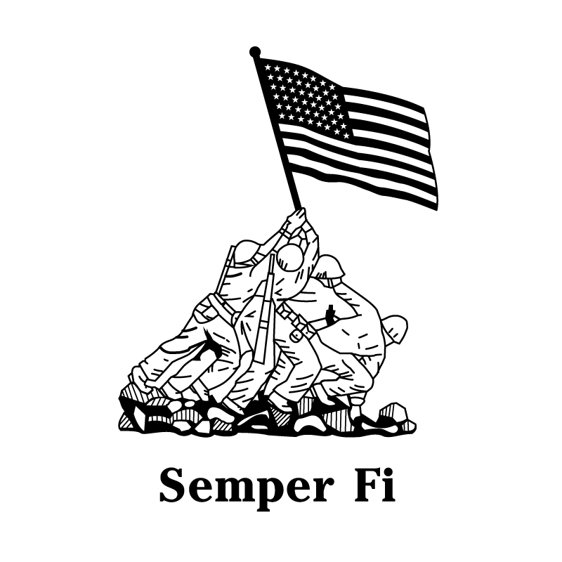 clip freeuse marines drawing semper fi #99367751