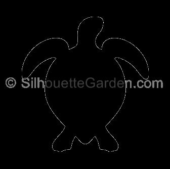 banner black and white Sea turtle silhouette clip art