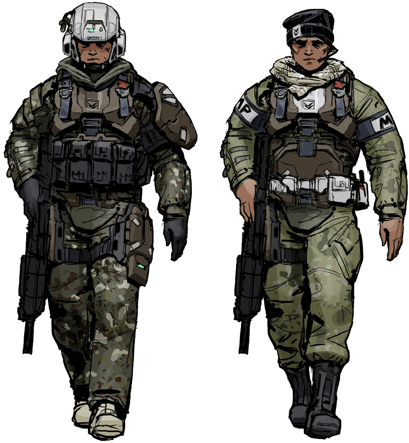 clipart black and white library sci fi soldier concept art