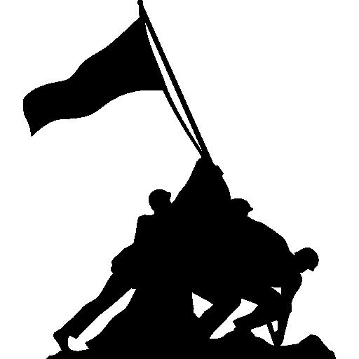 clipart transparent download Raising the Flag on Iwo Jima