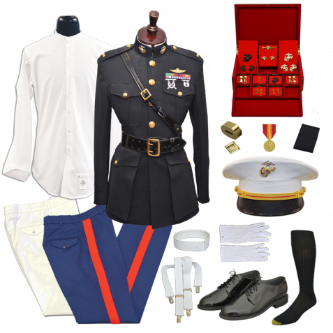 png royalty free stock USMC Male Officer Commissioning Blue Dress Uniform Package with