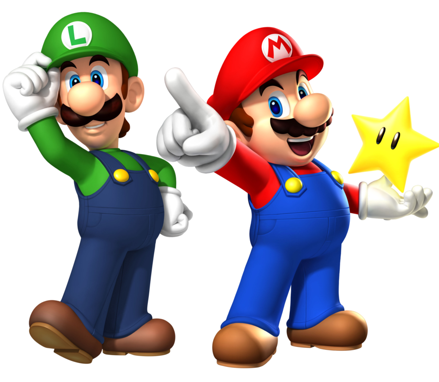 clipart royalty free library clip art of mario and luigi by coloring point for kids