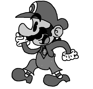 graphic transparent stock Black And White Mario Pictures