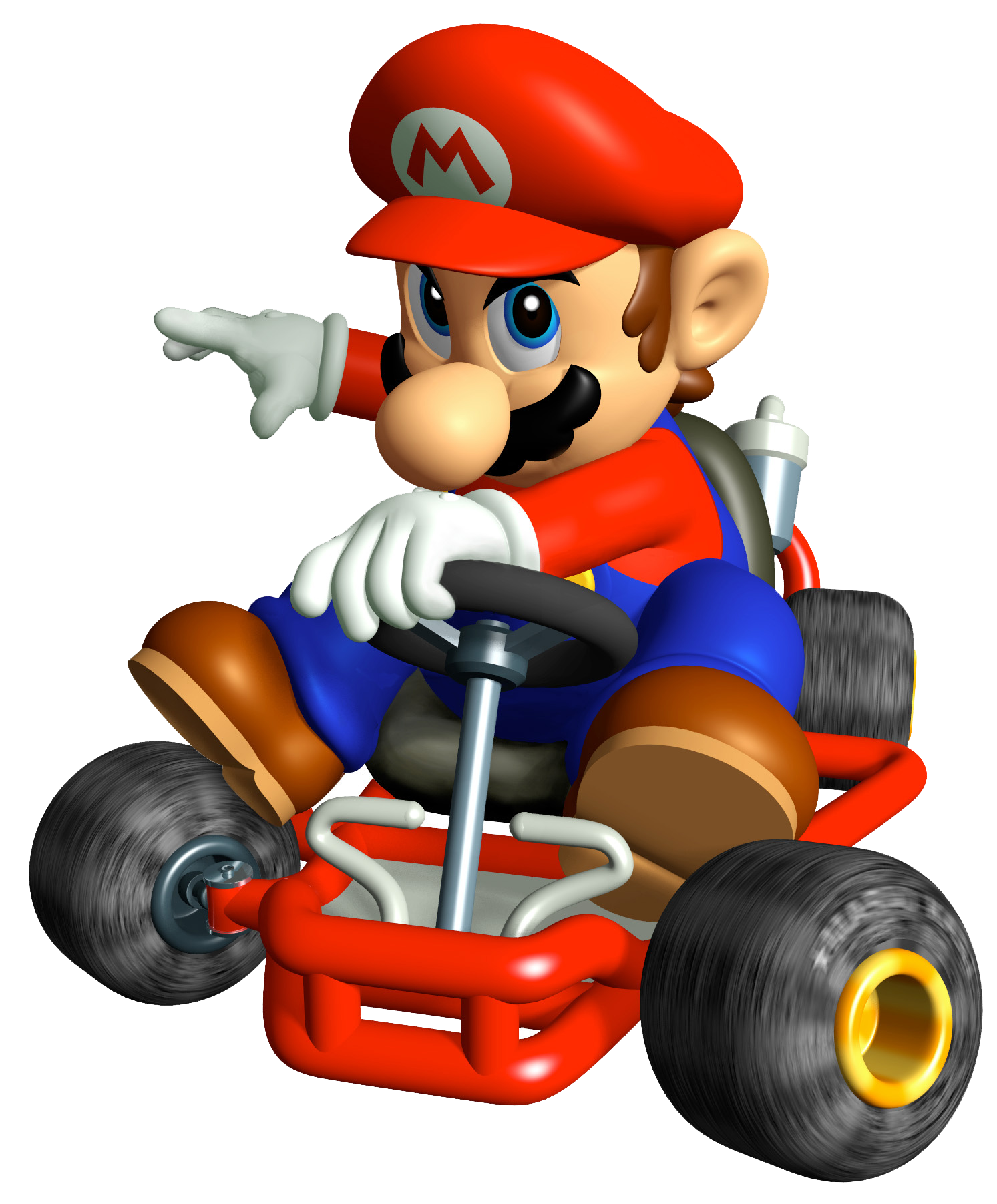 clip art freeuse Super Mario On Kart PNG Image