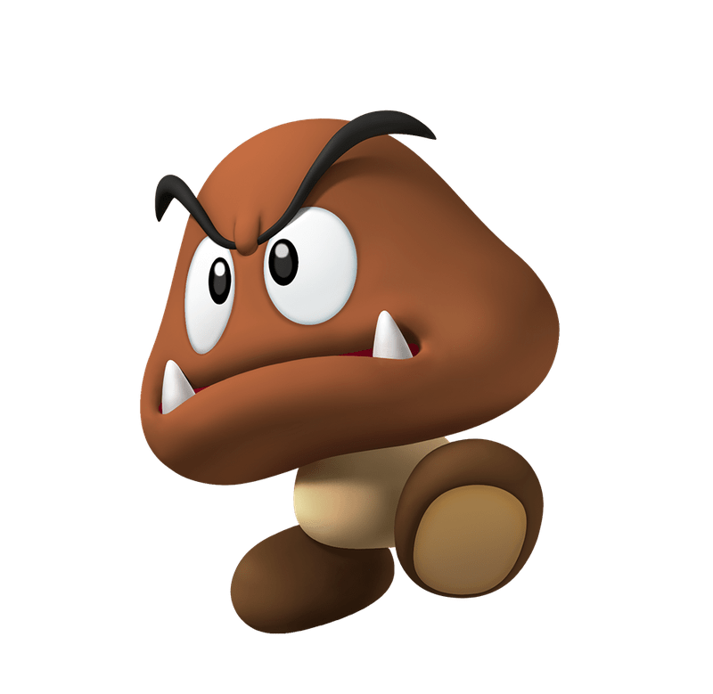 graphic royalty free library Play nintendo. Mario clipart goomba.
