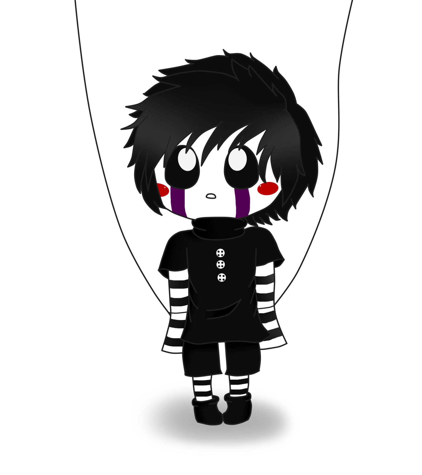 png transparent library Chibi anime puppet master. Marionette drawing