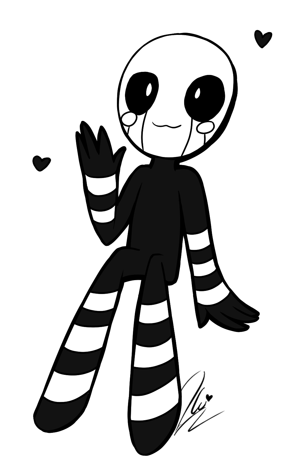 picture transparent Fnaf by darknessdonnie deviantart. Marionette drawing