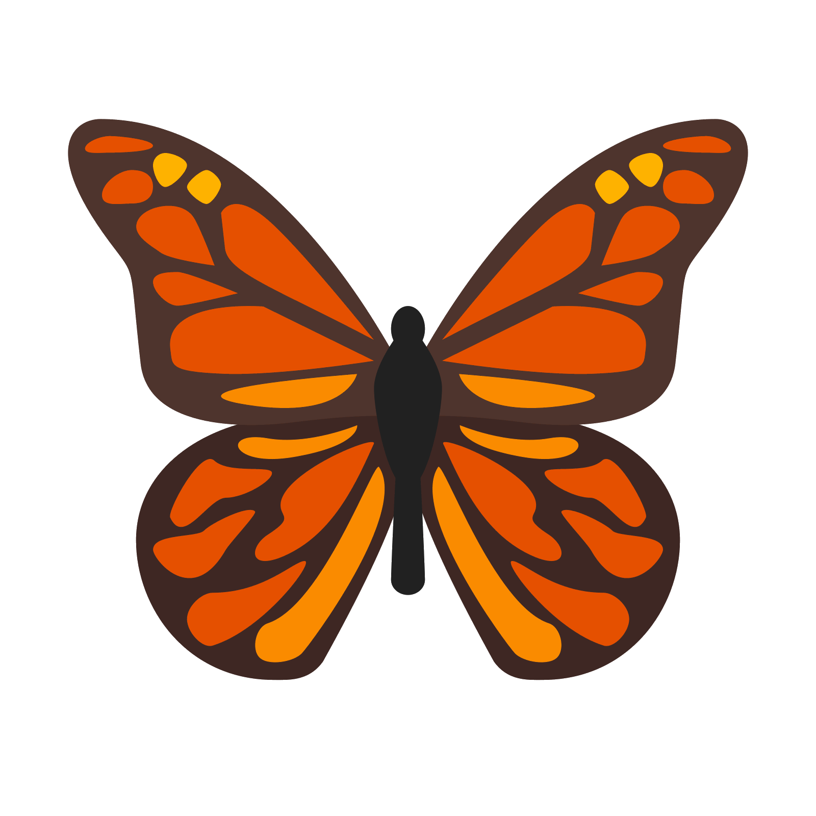 banner free library Vector defintion arthropod. Monarch butterfly icon free