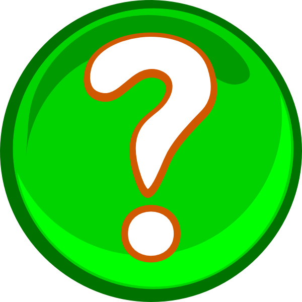 graphic free Marks clipart cartoon. A green question mark.