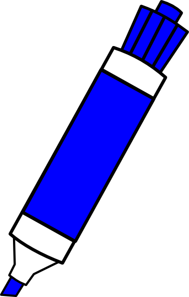 picture freeuse Blue dry erase marker. Markers clipart colouring pen.