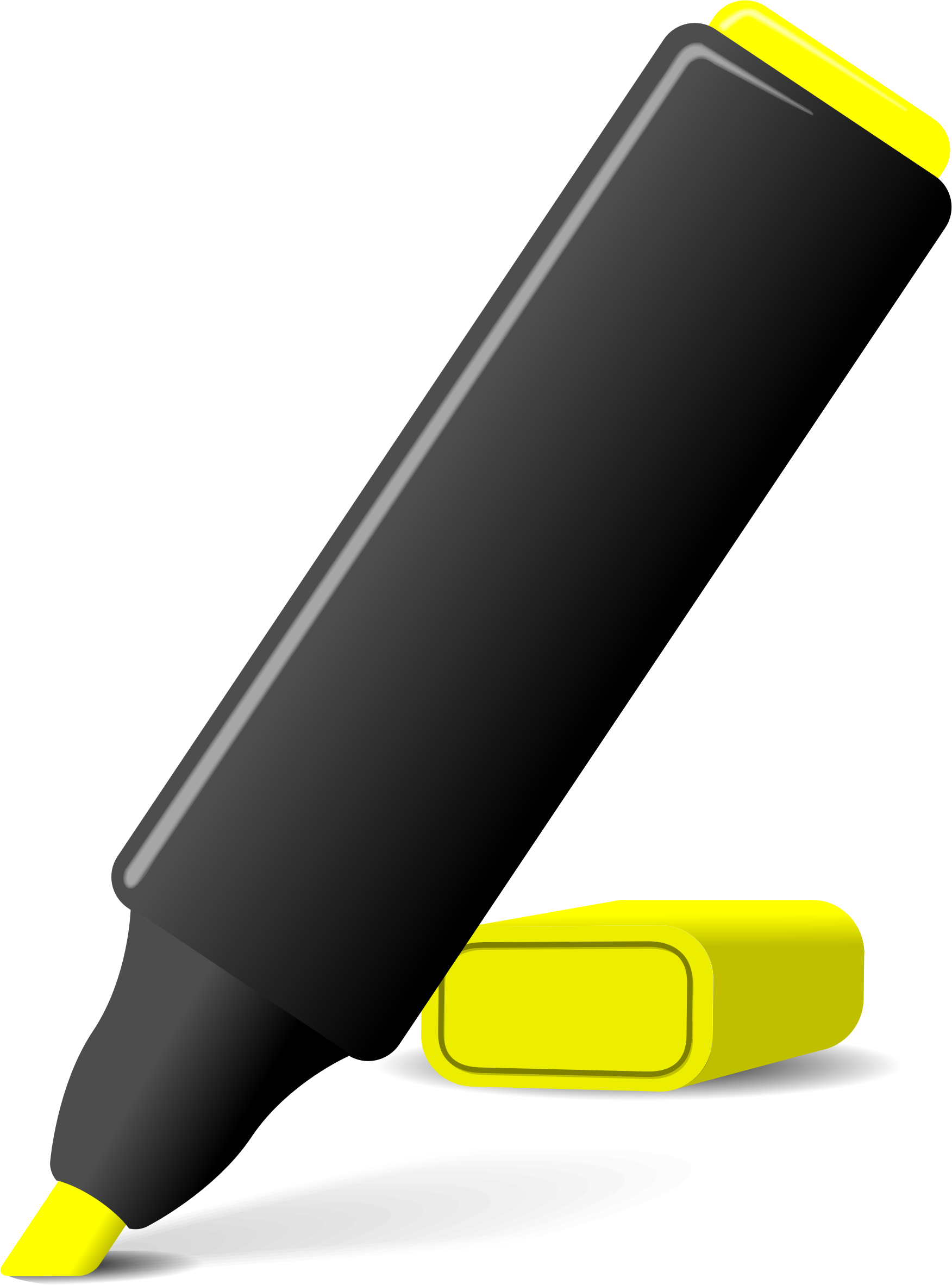 transparent library highlighter marker clipart