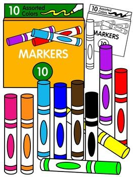 svg freeuse Markers clipart. Marker color and black