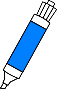 clip art library library Markers clipart. Blue dry erase marker.