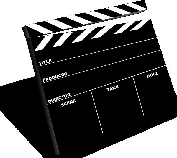 free library Scene slate clip art. Markers clipart movie.