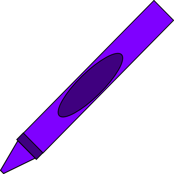 svg freeuse library Purple Crayon Clip Art