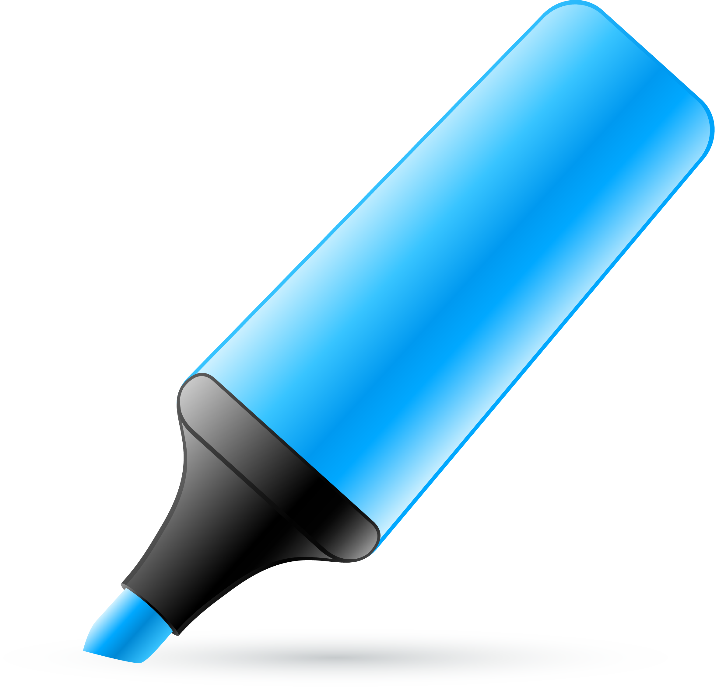 clip library stock Marker blue free on. Markers clipart skinny.