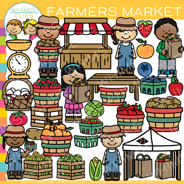 banner black and white download Kids farmer clip art. Market clipart