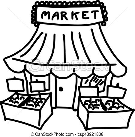 clipart download Market black and white clipart