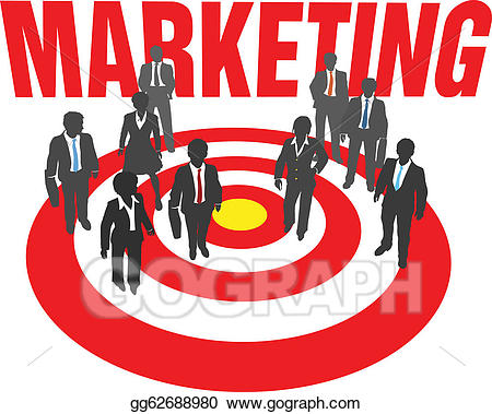 picture stock Marketing clipart marketing team. Vector illustration business people