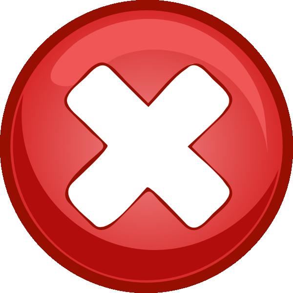 jpg free Cross x clip art. Marks clipart big red.