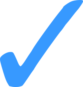 picture library stock Check mark png clip. Marks clipart light blue.
