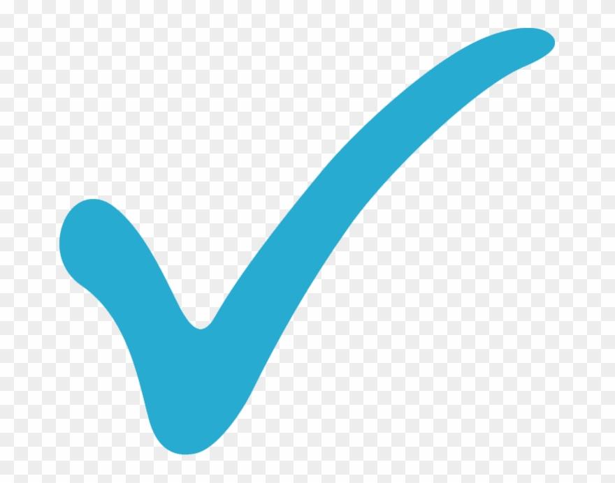 clip royalty free Check mark . Marks clipart light blue.